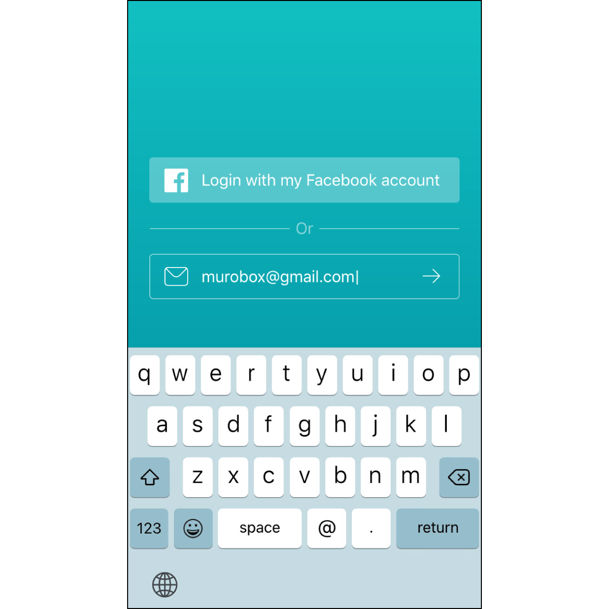 1. Log in with Your EmailEnter the email address that you wish to use for log in this app.