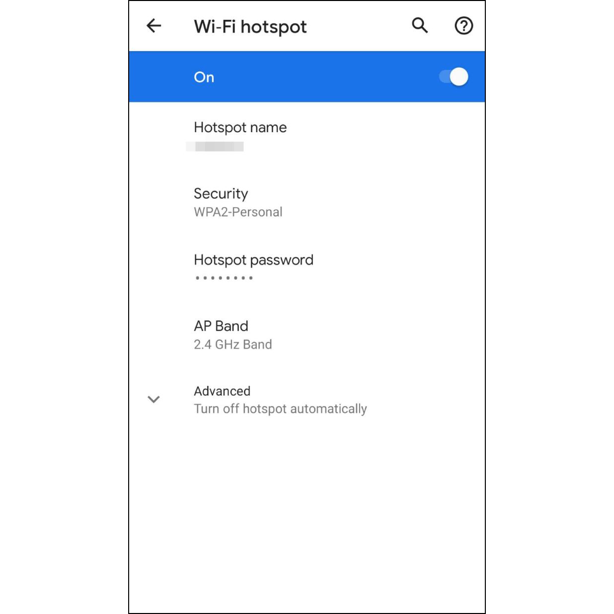9. Turn on Personal HotspotWhile it is reconnecting, please go to the setting page to turn on the personal hotspot.